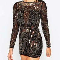 ASOS Premium Embellished Playsuit