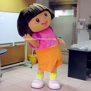 Halloween Dora Explorer Mascot Costumes,Cosplay Costumes,Costumes for Adults,Halloween Costumes,Birthday Costumes,Christmas Costume,Clothing