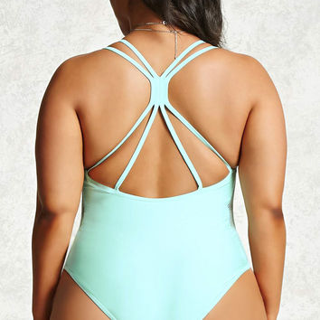 Plus Size One-Piece Swimsuit