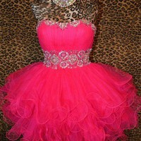 Sweetheart Mini Red prom dress/homecoming dress