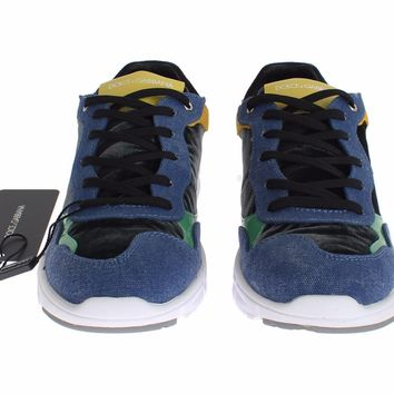 Dolce & Gabbana Multicolor Leather Sport Gym Sneakers Shoes