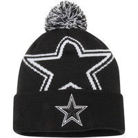 Dallas Cowboys New Era Biggie 2 Cuffed Knit Beanie – Black