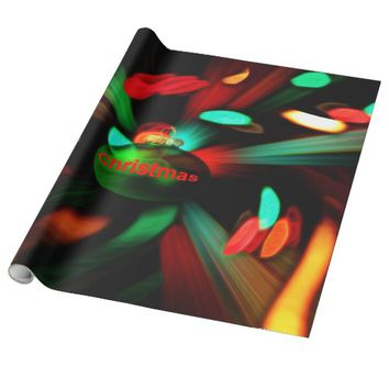 Christmlas, glossy wrapping paper