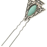 Arrow and Turquoise Hair Pin