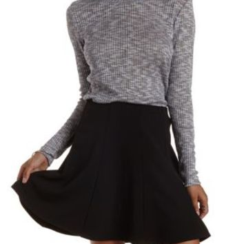 Gray Marled Ribbed Sweater by Charlotte Russe