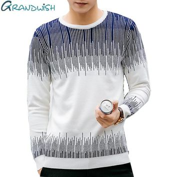 2017 New Men's Sweater Knitting Slim Fit Men Pullover Patchwork Korean O-Neck Sweaters Men Pullovers Plus Size 5XL ,PA564