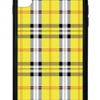 Yellow Plaid iPhone Xs Max Case