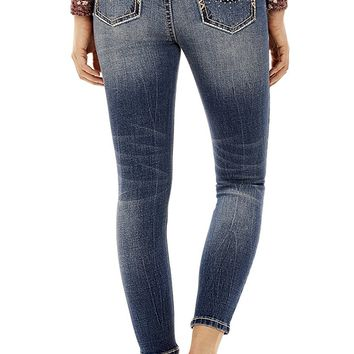 Juniors Curvy Skinny Ankle/Crop Jeans