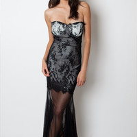 Lace Little Black Dress,Sexy Party Dress,Lace Maxi Dress,Strapless,Gothic, Black long dress,Romantic, Formal Dress,Evening gowns, night club