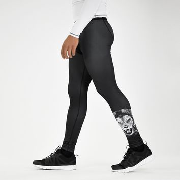 Black Lion Tights for men
