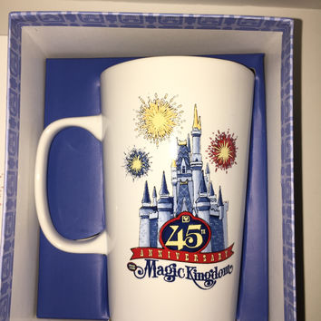 Disney Parks 45th Magic Kingdom Starbucks Ceramic Coffee Mug New with Box