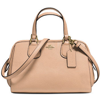 COACH Mini Nolita Satchel In Pebble Leather | macys.com