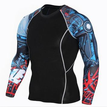 Cyborg 3D Printed Compression Long Sleeve Shirt