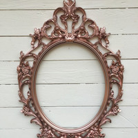 Rose Gold Frame Wedding Picture Frame Photo Prop Ornate Baroque Shabby Chic Wall Art Vintage Nursery Chalkboard/Mirror