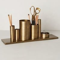 Codify Pencil Holder by Anthropologie in Bronze Size: One Size Books