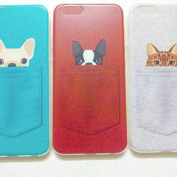 iPhone 6/6s - iPhone 6/6s Plus - Cute Pet in Pockets - Dogs and Cats