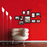 Pictures Photo Frame The Memories Quote Wall Sticker Art Decor Removable Decals = 1706386308
