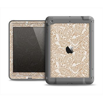 The Tan Abstract Vector Pattern Apple iPad Air LifeProof Fre Case Skin Set