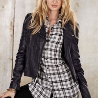 Soft Washed Leather Motorcycle Jacket - Victoria's Secret