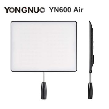 YONGNUO YN600 Air Ultra Thin LED Camera Video Light Panel 3200K-5500K Bi-color Photography Studio Lighting