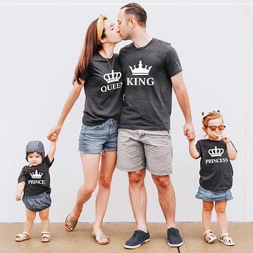 Daddy Mommy & Me Baby Dress King Queen Princess