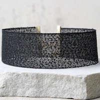Cut a Rug Black Choker Necklace