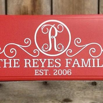 Custom Family Established Sign with Last Name