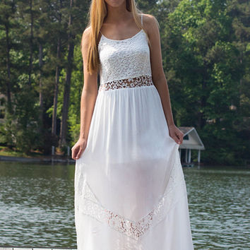 Kiss You In The Morning Maxi, White