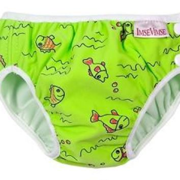Green Fishies Print Swim Diaper