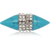 Givenchy - Small Double Cone Shark earring in faux turquoise
