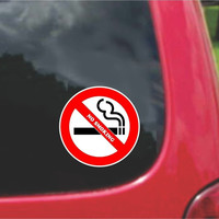 Set of No Smoking Warning Sign Sticker Decals Full Color/Weather Proof.