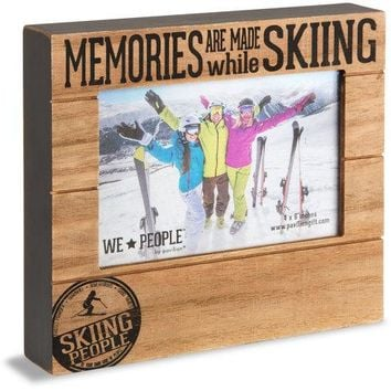 Skiing People Picture Photo Frame