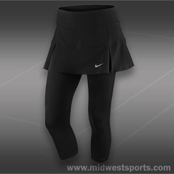 nike womens tennis skirt with tights, Nike Novelty Skirt Tight  549716-010,  mid