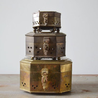 Vintage Brass Cricket Box Collection