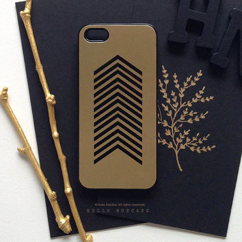 iPhone 5 Gold Metallic Case, iPhone 5s Black Chevron Case, iPhone 4 Case, iPhone 4s Case, Geometric iPhone Case, TOUGH iPhone Cover M9