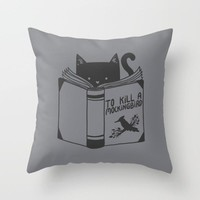 Pillow Case The Cat Reading Cotton Linen Sofa Car Chair Pillow Cushion Cover Case 18 inches Home Textile Square Rhombus Shape