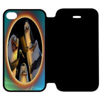 Penguins of Madagascar Say Hello iPhone 4 | 4S Flip Case Cover