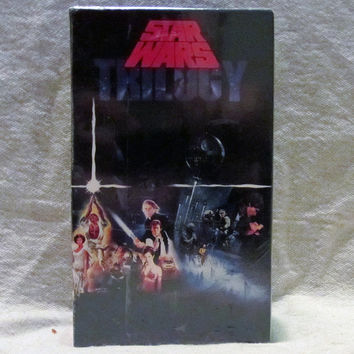 Vintage Brand New 1990 STAR WARS Trilogy Unopened Jedi Empire Rare Sci-Fi 3 VHS Box Set