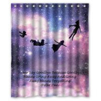 Peter Pan quotes Love Pretty High Quality Shower Curtain Size 60x72 Inch