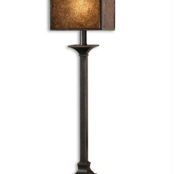 Buffet Table Lamp - Bronze Toned Base With Gold Highlights