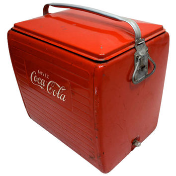 Vintage Coca Cola Cooler French
