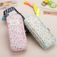 Free shipping Stationery vintage large capacity brief denim canvas pencil case pencil box /pencil case for pencils school