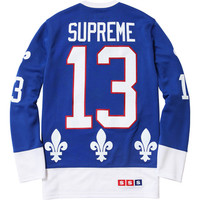 Supreme: Fleur de lis Hockey Top - Royal