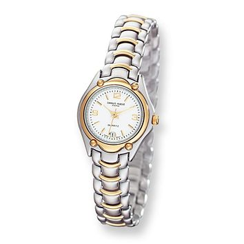 Ladies Two-Tone Link Style Watch by Charles Hubert