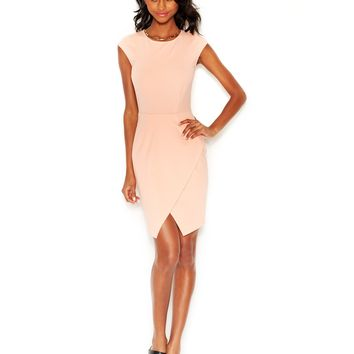 Bar III Envelope-Hem Sheath Dress
