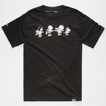 Rook X Peanuts Gang Skate Mens T-Shirt Black  In Sizes