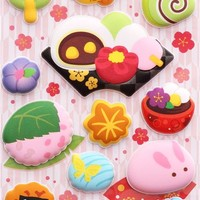 kawaii Japanese sweets sponge stickers from Japan - Food Stickers - Sticker - Stationery