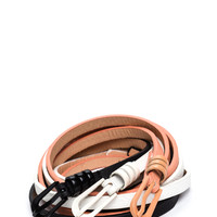 All You Faux Leather Skinny Belt Set