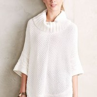 Gamine Cable Poncho by Moth Ivory