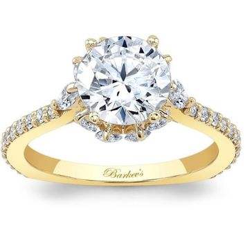 Barkev's Hidden Halo Marquise Encrusted Diamond Engagement Ring